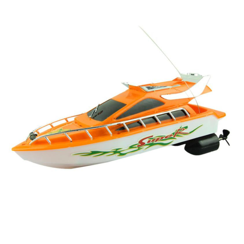 Remote control speed boat  Fashion Powerful Plastic Remote Control Boats Speed Electric Toys Model Ship Sailing Children - I need more allowance