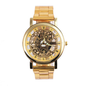 Fashion Men Steel Strip Mechanical Gear Watch