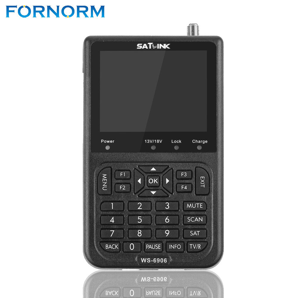 FORNORM WS-6906 DVB-S FTA Data Digital Satellite Signal 100-240V Meter Detector Finder 3.5