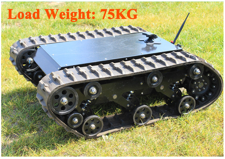 DOIT 600t Tracked Robot Tank Chassis RC Smart Crawler Tank Platform Cross-obstacle Machine with Max Load 75kg - I need more allowance
