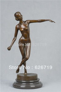 ATLIE BRONZES pure handmade bronze antiques nude sculpture woman erotic statues naked  dancer figurine - I need more allowance