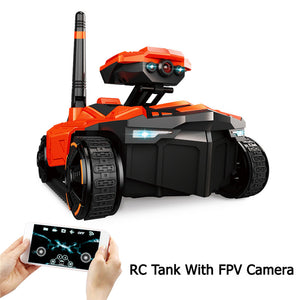 RC Tank YD-211 Wifi FPV 0.3MP Camera App Remote Control Toy Phone Controlled Robot Toys - I need more allowance