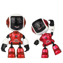Electric LED Sound Intelligent Alloy Robot Toys Novelty Phone Stand For Kids