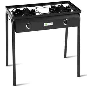 150000 BTU Propane Double Burner Gas Cooker Stand Stove