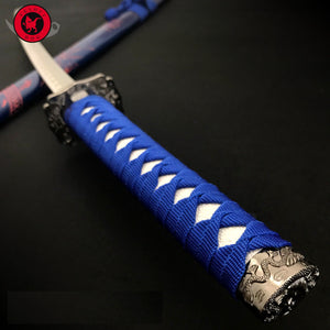 "25% off with free shipping 40"" Dragon SAMURAI NINJA Bushido KATANA Japanese Sword Carbon Steel Blade blue"