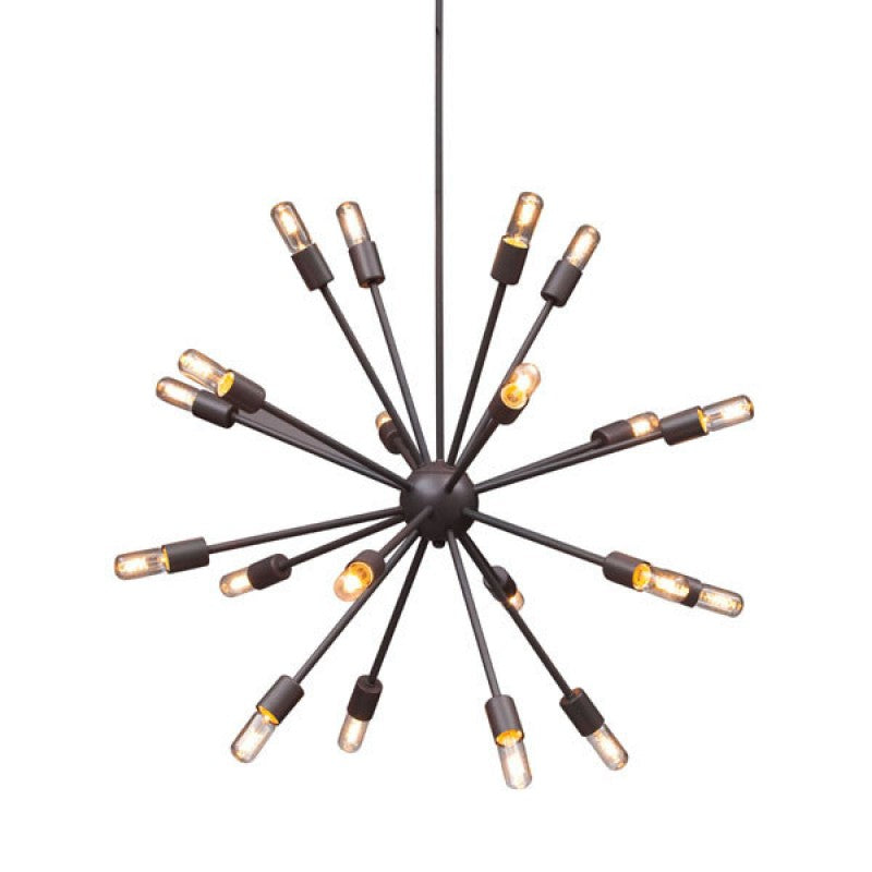 Black Starburst Chandelier