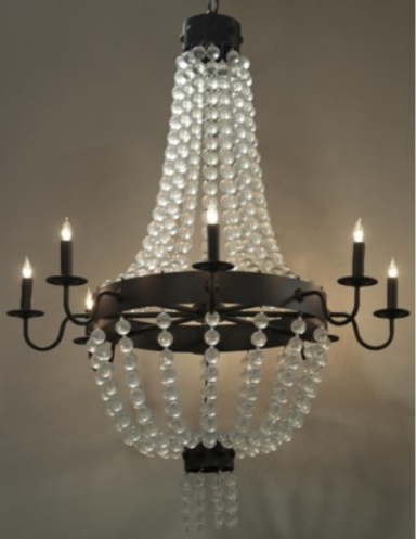 Modern Medieval Crystal Ball Chandelier