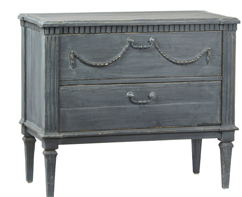 Vintage Blue Grey Bedside tables