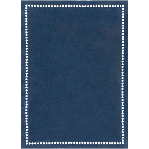 Navy Dots Border