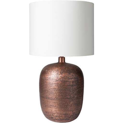 Hammered Metal Table Lamp