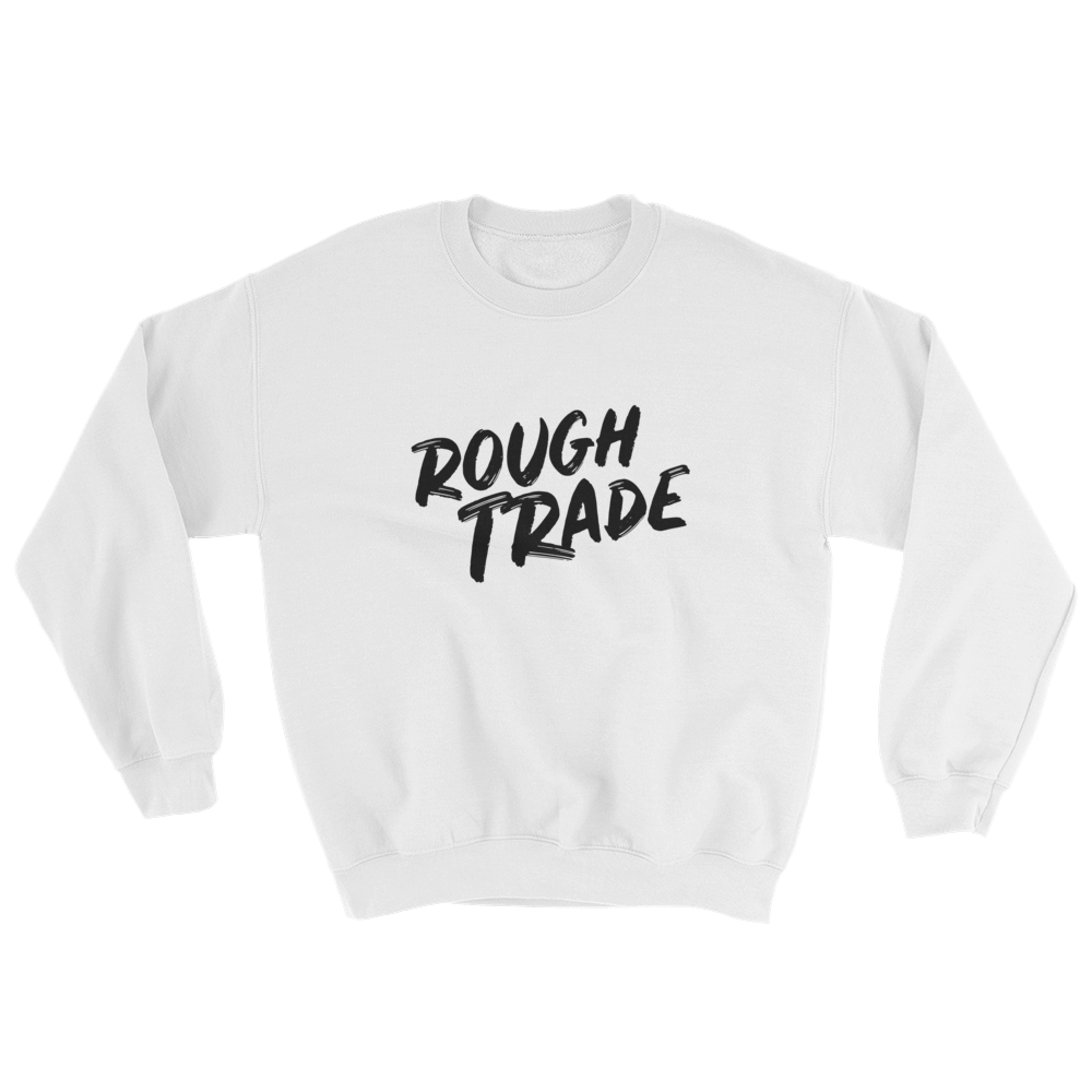 Rough Trade casual sweatshirt by counter stroke in white