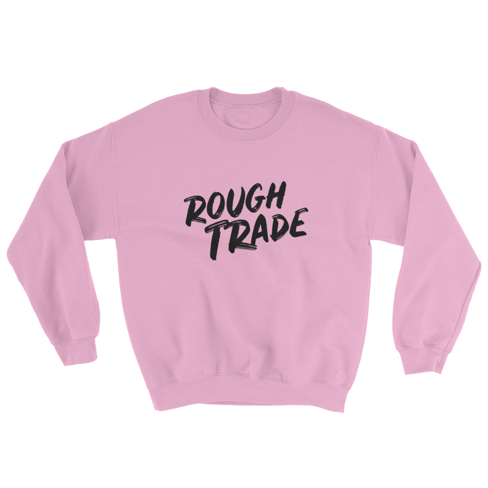 Rough Trade casual sweatshirt by counter stroke in pink