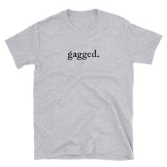 tshirt with the word gagged on the front rupaul's drag race