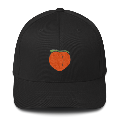 Peach Emoji | Fitted Baseball Hat