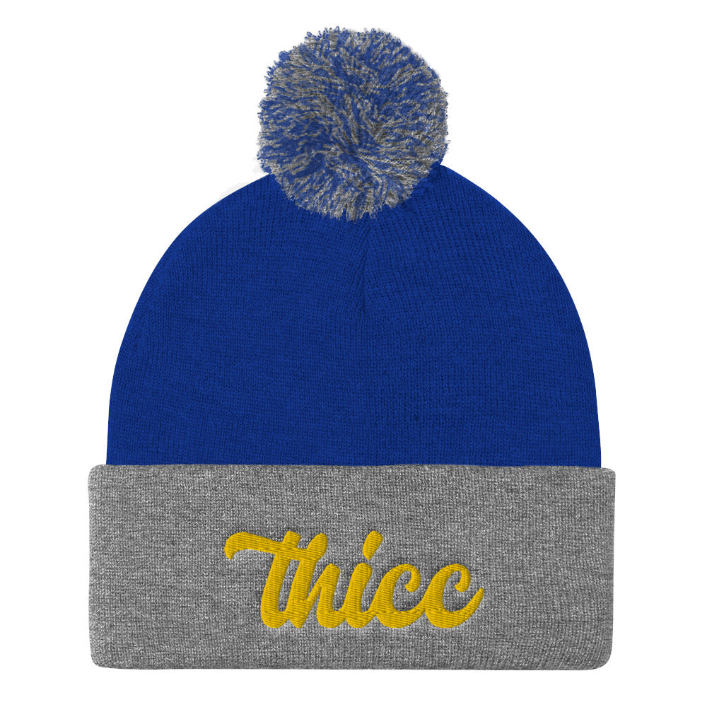 Thicc Beanie with Pom Pom