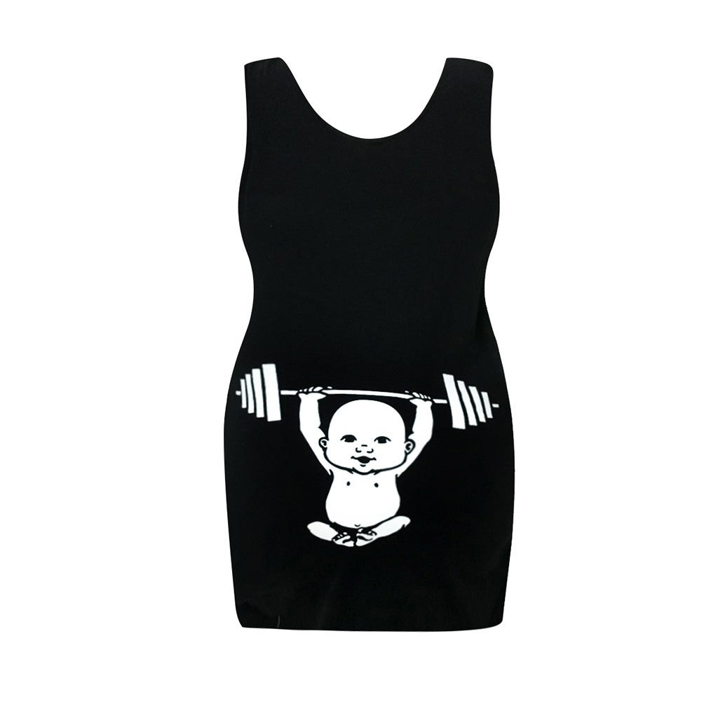 Baby Pumping Iron Maternity Tank Top