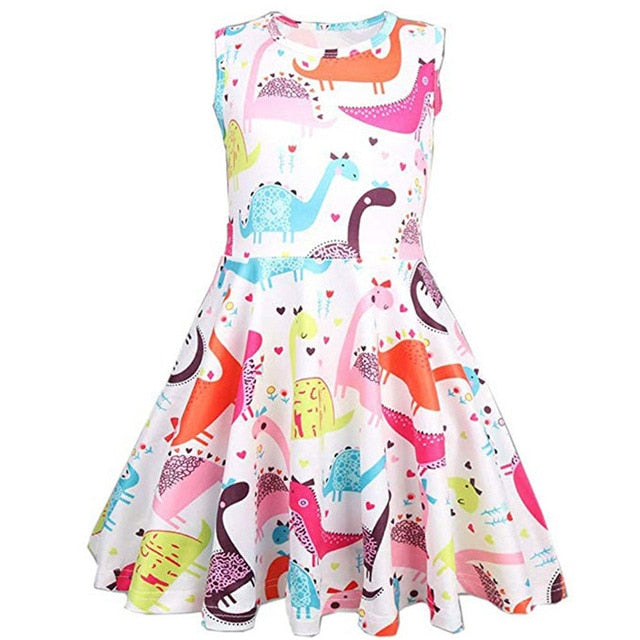 Cartoon Dinosaur Dress