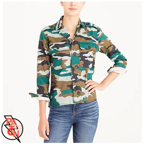 Camo Utility Jacket Plain- Multiple Sizes SALE - Jacket