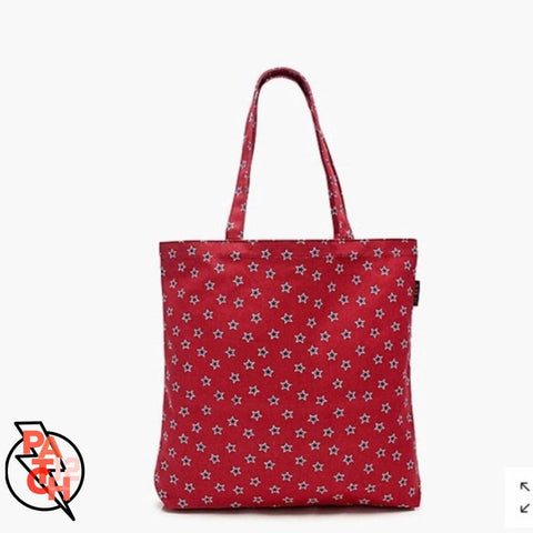 Canvas Tote- Small- Red Star. Monogrammed Tote. Personalized Tote. Red Tote. - Bags & Purses