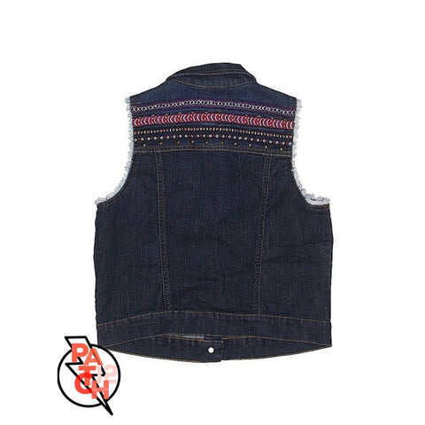 Denim Vest with Embroidery Girls XL - Clothing
