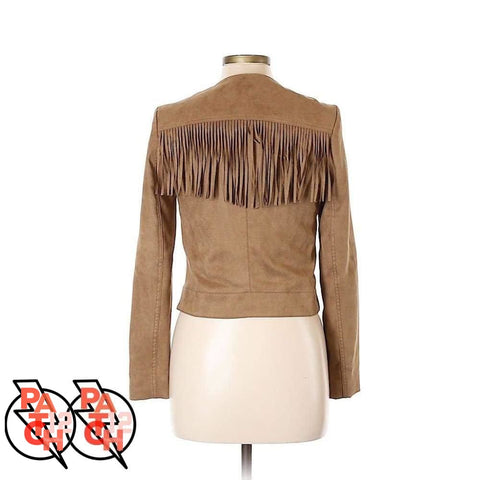 I Like The Way You Move. Suede Fringe Jacket- Womens L Size 10 - Clothing
