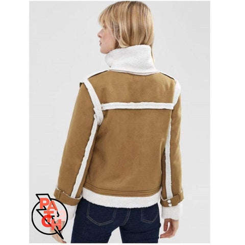 Zip Up Sheepskin Jacket- Women's S