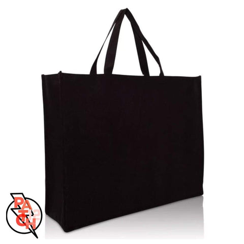 "Extra Large Black Tote - 20"" with zipper. Monogrammed Zippered Tote.  Personalized Tote.   Teacher Gift Tote."