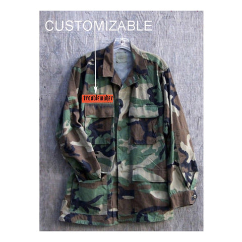 Camo Jacket- Womens Small.  Camouflage Jacket. Vintage Camo.  Personalized Jacket. Customizable.