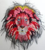 Extra Large Lion Machine Embroidery Pattern  10x10