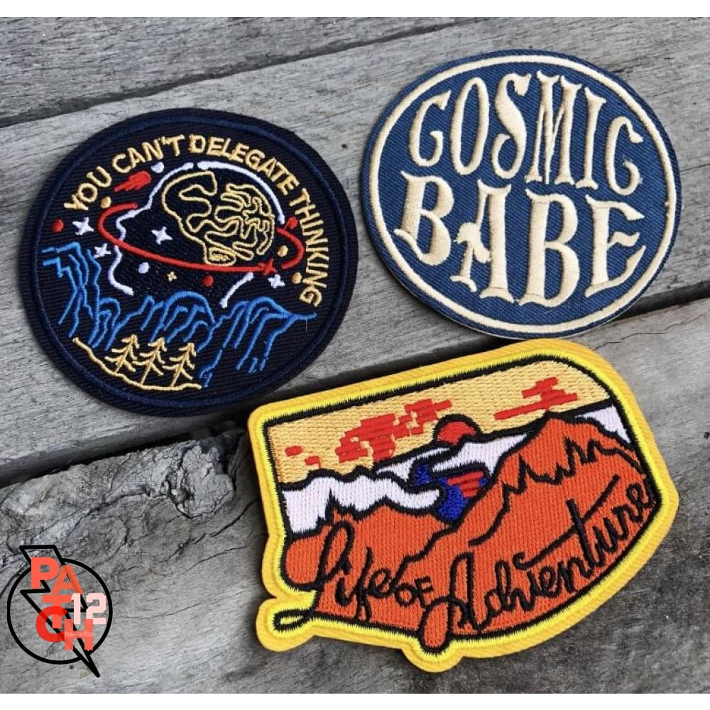 Life of Adventure. Iron On Patch - Patches