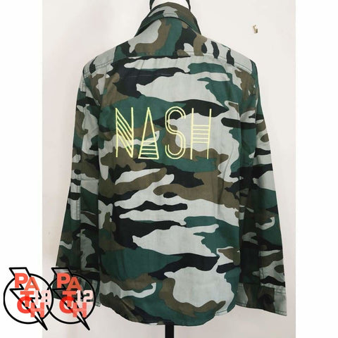 Nash Too. Camo Utility Jacket. Camo Jacket. Camouflage coat. Camouflage Jacket. Statement Jacket. Personalized Jacket. - Clothing