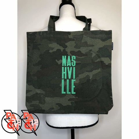 Nashville Canvas Tote. Camo Tote. Personalized Tote. Monogrammed Tote. Camouflage Bag. - Bags & Purses