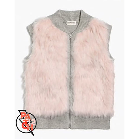 Pink Faux Fur Vest - Girls XL - Clothing