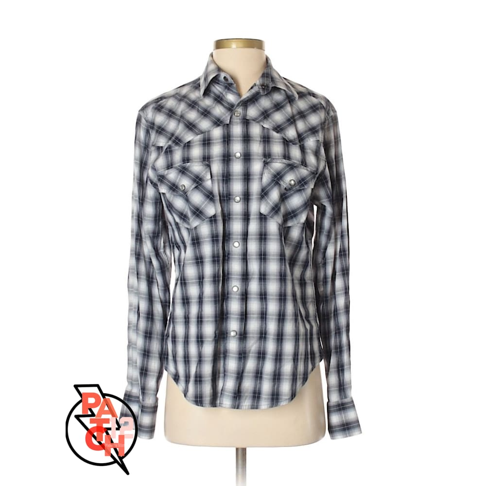 Plaid Utility Shirt- Womens Small - Shirt