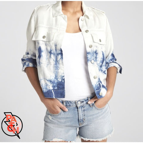 Tie-Dye Denim Jacket Womens XS - Clothing