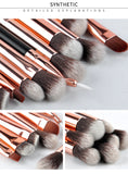 Pro Rose Gold Blending Makeup Brushes