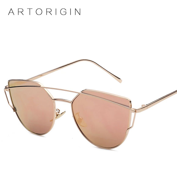 Twin-Beams Mirror Sunglasses