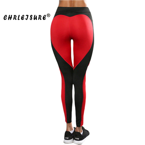 Red Heart Shape Leggings