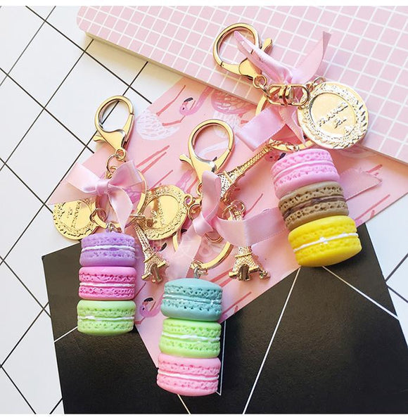 Paris Inspired Macaroon Key Chain