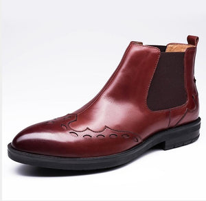 Brogues Carved Genuine Leather Boots