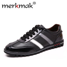 Merkmak Big Size 37-46 Men Shoes Casual Fashion Men's Genuine Leather Moccasins Male Luxury Brand Designer Italian Mens Shoes