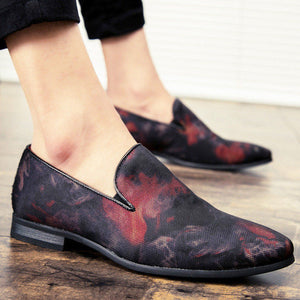Elegant Red Navy Fashion Loafers