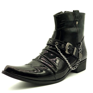 Luxury Leather Ankle Martin Boots
