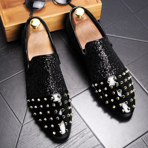 Luxury Golden Spikes Loafers