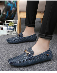 Alcubieree Embossed Leather Moccasins