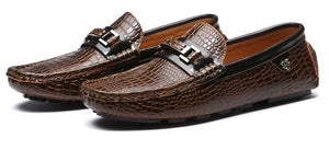 Luxury Brand Genuine Leather Slip On Soft Moccasins