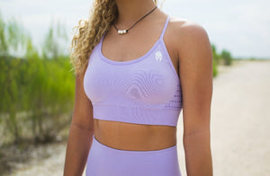 Seamless Embrace Sports Bra - Lavender