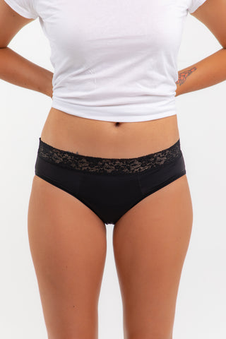Luxe Lace Brief -Mod (20-25ml) - Eco Period Australia