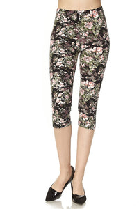 7cadcbed781 Pink Green Floral Print One Size Capri. Pink Green Floral Print One Size  Capri. Mishy Lee Boutique