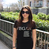 Women's Slim Fit VEGAN T-Shirt